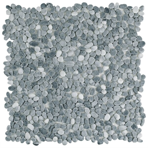 Kamyk 12.25 x 12.25 Pebble Stone Mosaic Tile in Light Gray by EliteTile