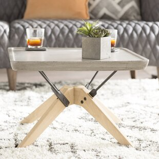 Audwin Concrete Coffee Table with Tray Top