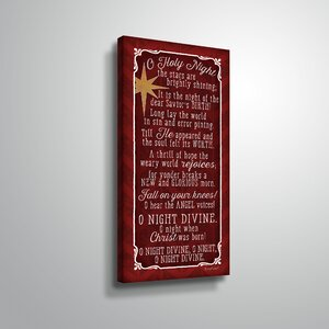 'O Holy Night' Textual Art on Wrapped Canvas by The Holiday Aisle