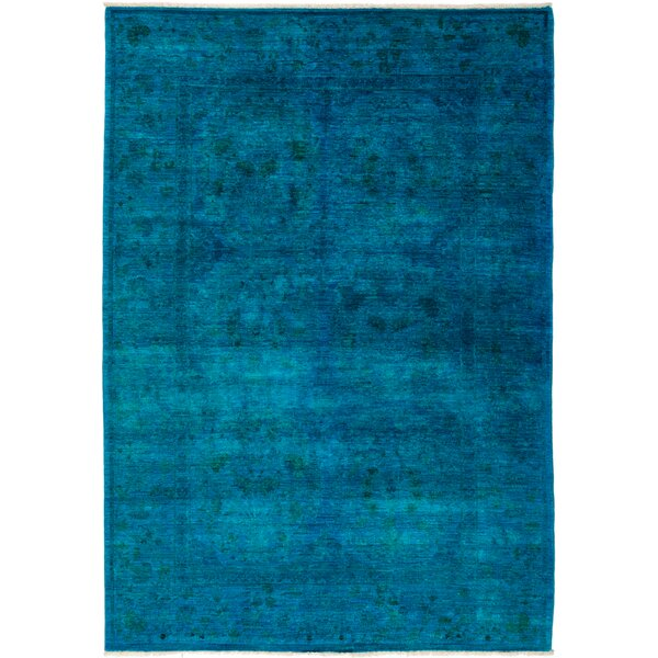 One-of-a-Kind Deveraux Hand Knotted Blue Area Rug by Isabelline