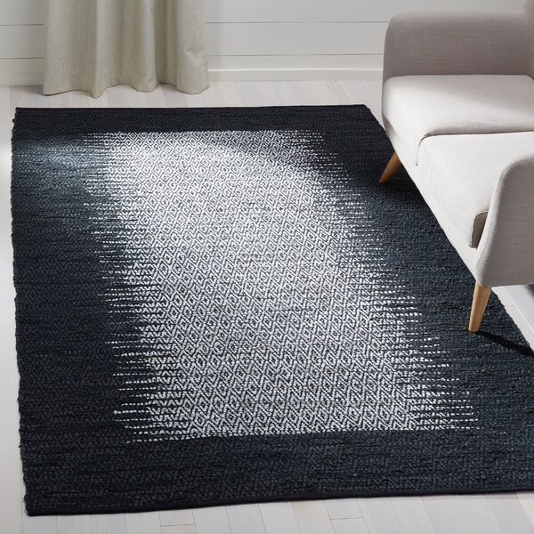 Logan Hand-Woven Light Gray Area Rug by Bungalow Rose