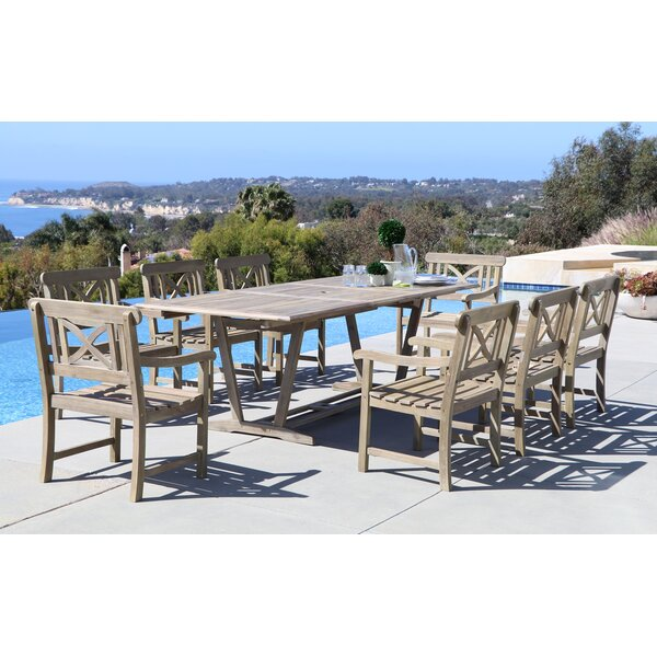 Densmore 9 Piece Dining Set by Darby Home Co