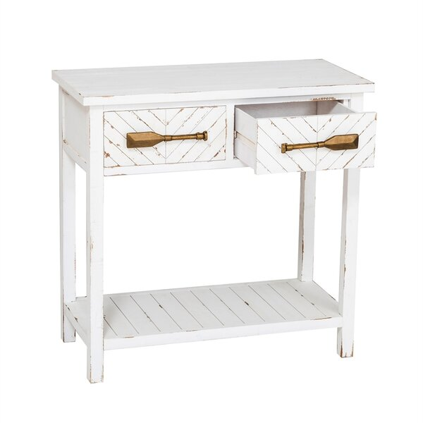 Charlaine White Hall Console Table by Highland Dunes