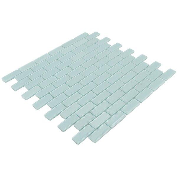 Recoup 12 x 11.75 Glass Mosaic Tile in Green by Splashback Tile