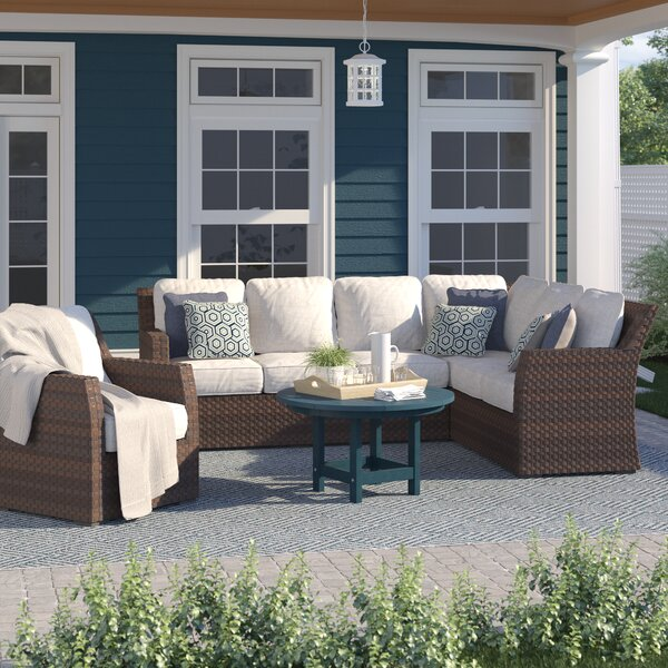 Adele Patio Sectional with Cushions by Sol 72 Outdoor