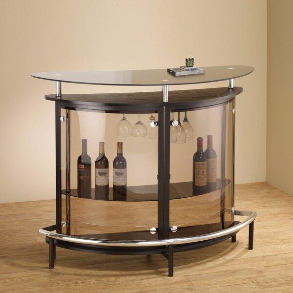 Teeken Bar with Wine Storage by Ebern Designs