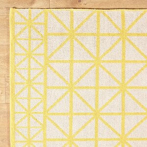 Tri Your Best Yellow Reversible Rug