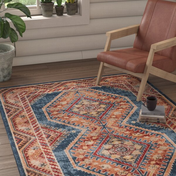 Isanotski Red/Blue Area Rug by Loon Peak