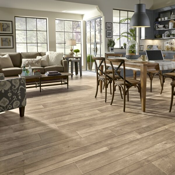 Restoration™ Wide Plank 8'' x 51'' x 12mm Oak Laminate Flooring in Patina by Mannington