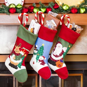3 Piece Christmas Stocking Set