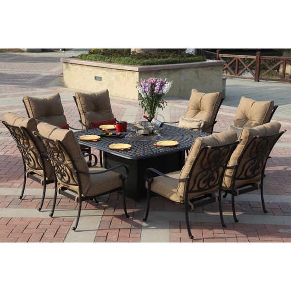 Lanesville 9 Piece Dining Set with Cushions by Darby Home Co