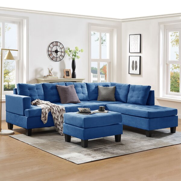 Patio Furniture Mariettan Right Hand Facing Sectional With Ottoman