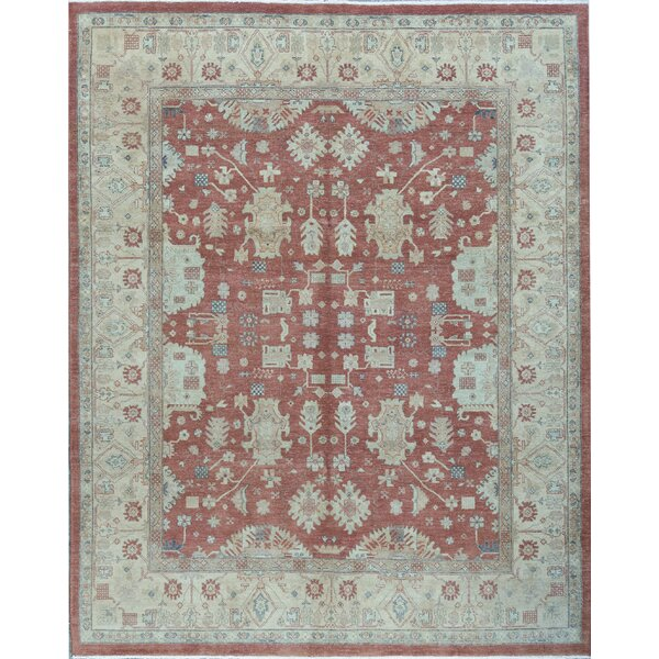 Cornwall Oriental Hand-Knotted 8.1' x 9.11' Wool Rust/Gold Area Rug