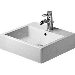 Affordable Vero Ceramic 20 Wall Mount Bathroom Sink with Overflow By Duravit