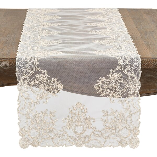 Villines Sheer Elegance Table Runner by Ophelia & Co.
