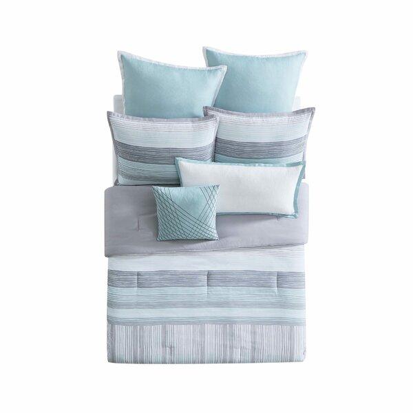 Kasu Stripe Reversible Comforter Set by Vince Camuto