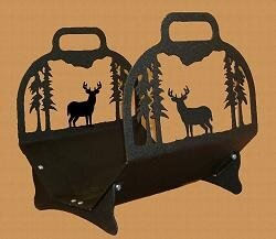 Deer Log Rack by Wildlife Décor