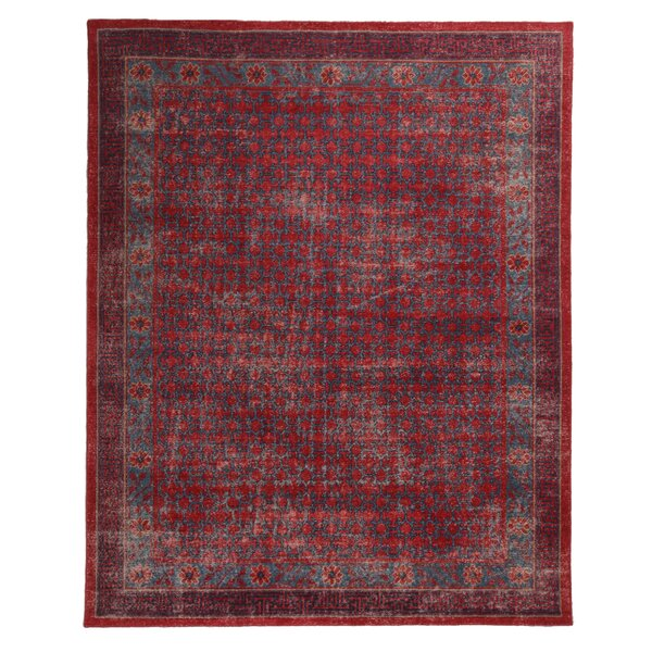 One-of-a-Kind Heilman Hand-Knotted Red 8' x 9'11 Wool Area Rug