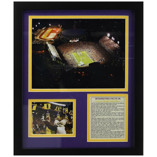 Louisiana State Tigers Tiger Stadium Framed Memorabilia by Legends Never Die