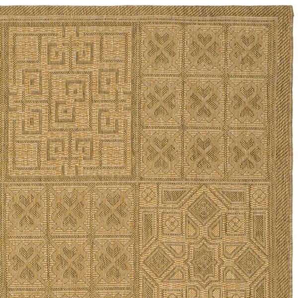 Herefordshire Geometric Gold Indoor/Outdoor Area Rug