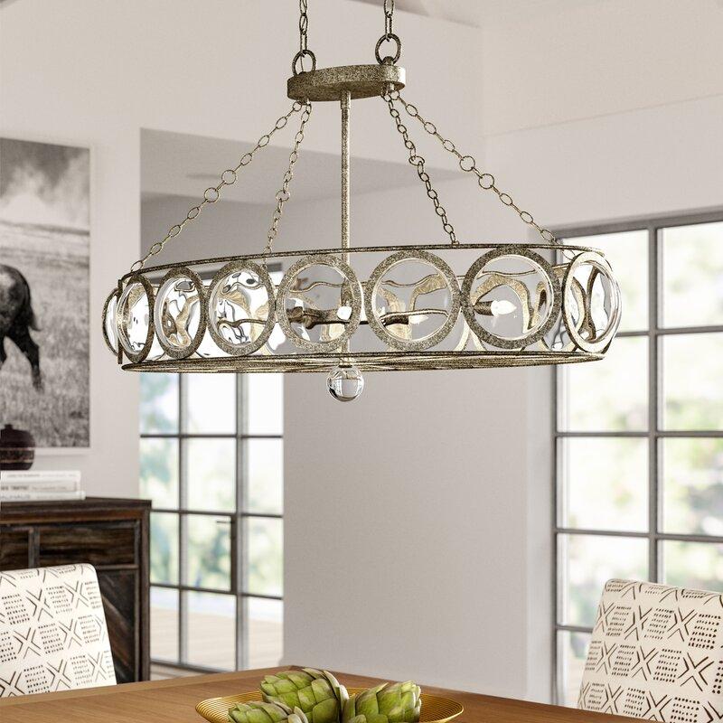 Mistana Aaron 6 Light Kitchen Island Linear Pendant Reviews Wayfair