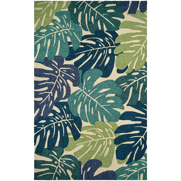 Totterdell Hand-Knotted Green  Area Rug by Beachcrest Home