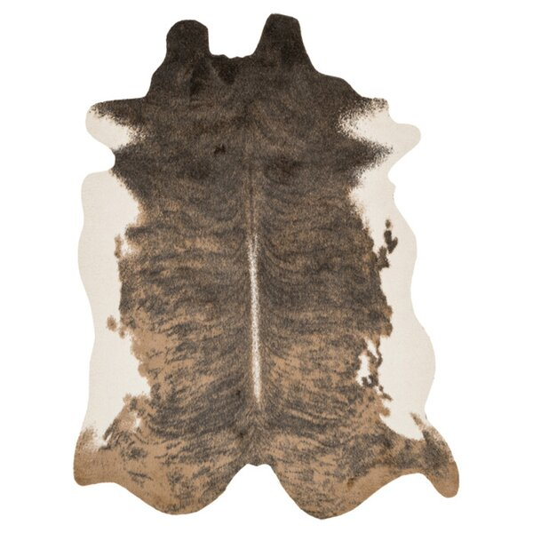 Margo Faux Cowhide Beige/Brown Area Rug by Union Rustic