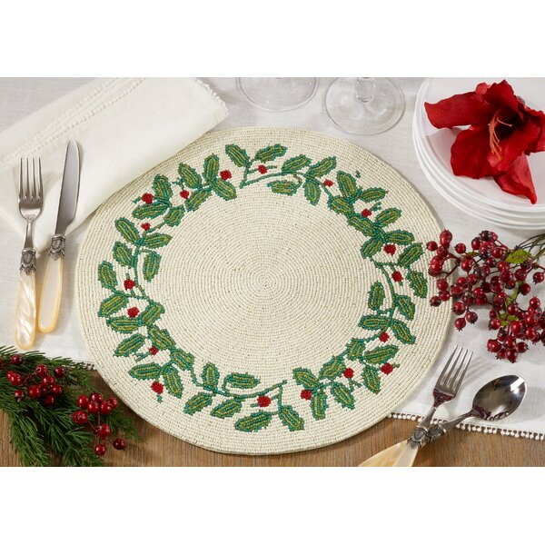 Francisco Beaded 14 Placemat (Set of 4) by The Holiday Aisle