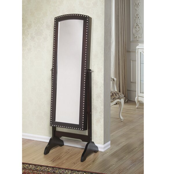 Huggins Free Standing Jewelry Armoire with Mirror by Alcott Hill