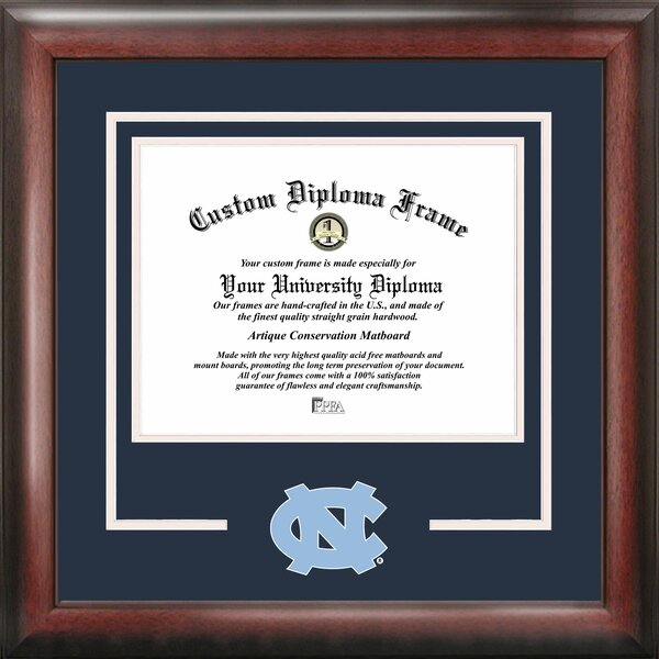 NCAA North Carolina Tar Heels Spirit Diploma Picture Frame by Campus Images