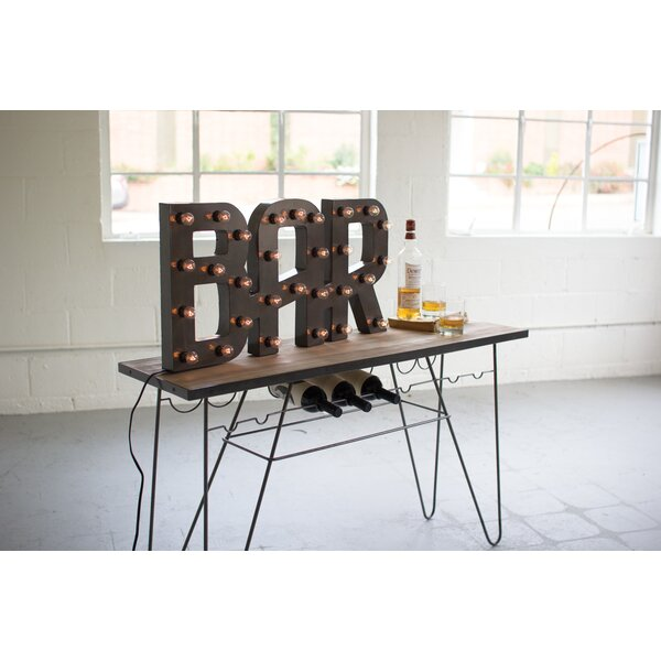 Raw Metal Bar Marquee Sign by 17 Stories