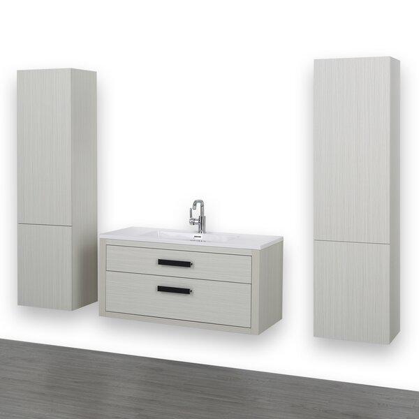 40 Wall-Mounted Single Bathroom Vanity Set