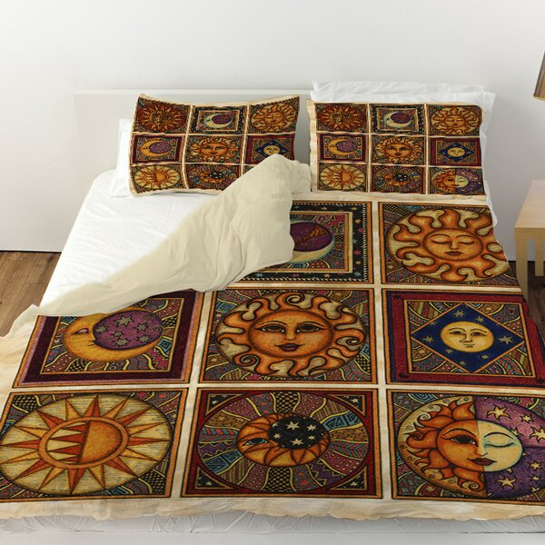 Celestial Squares Duvet Cover by Manual Woodworkers & Weavers