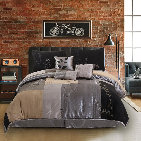 Back to Nature 7 Piece Complete Comforter Set by Hudson Street