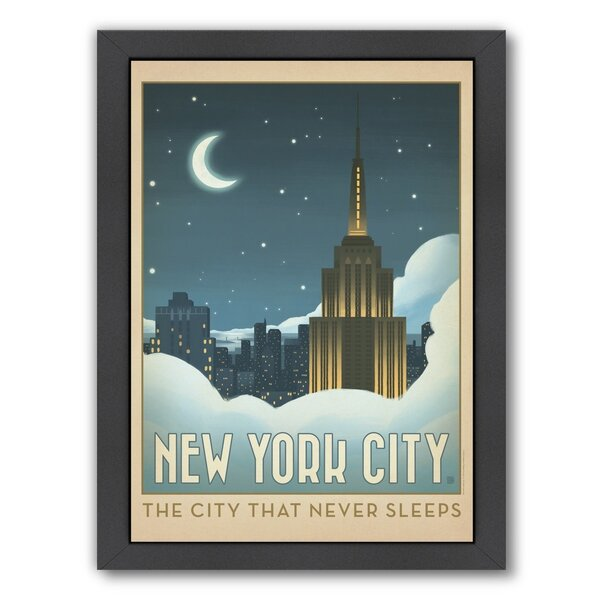 New York City 1014 Framed Vintage Advertisement by East Urban Home