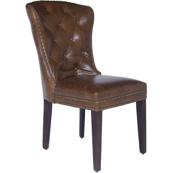 Rickie Genuine Leather Upholstered Dining Chair by Red Barrel Studio Red Barrel Studio