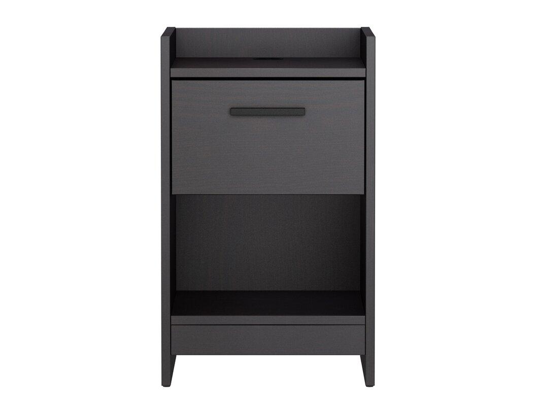 Night Table homestar central park 1 drawer nightstand & reviews | wayfair