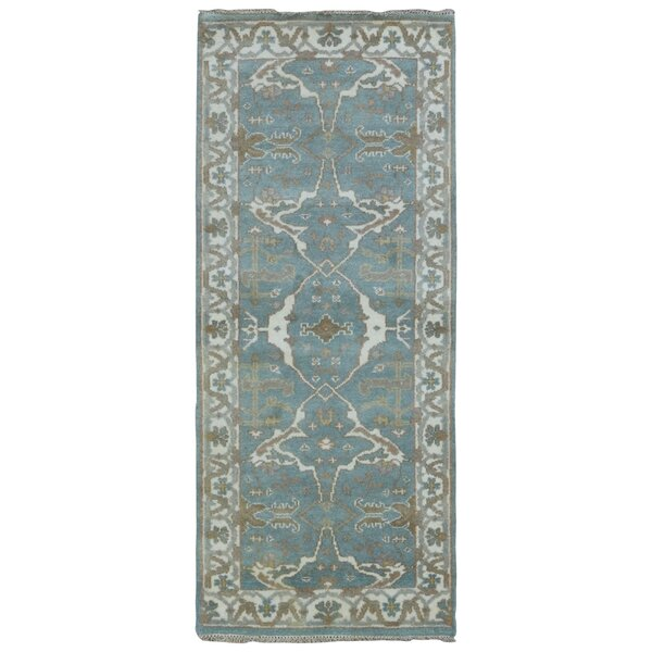 Mitchel Traditional Hand Woven Wool Blue/Beige Area Rug by Darby Home Co