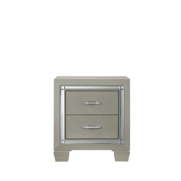 Rocky 2 Drawer Nightstand by Harriet Bee