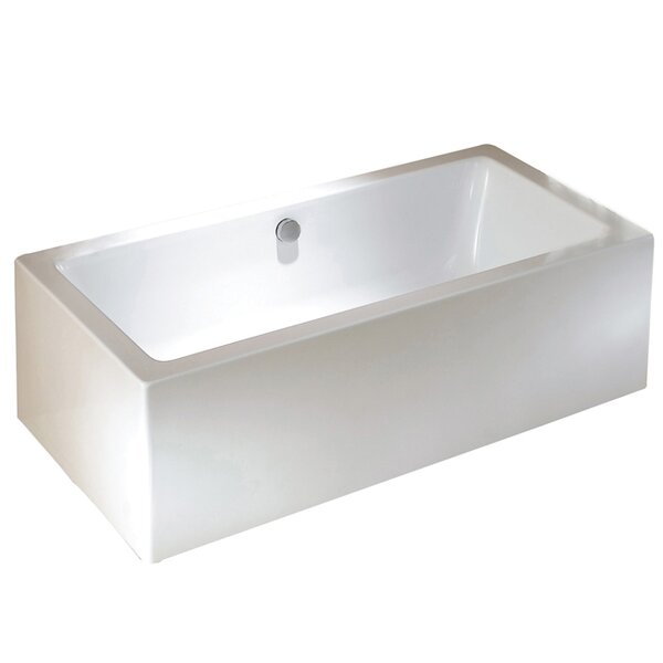 Aqua Eden 67 x 33.25 Freestanding Soaking Bathtub by Kingston Brass