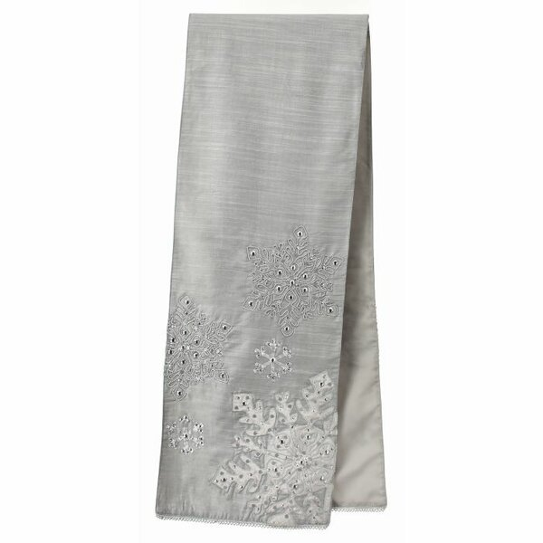 Beaded Jeweled Snowflake Table Runner by The Holiday Aisle