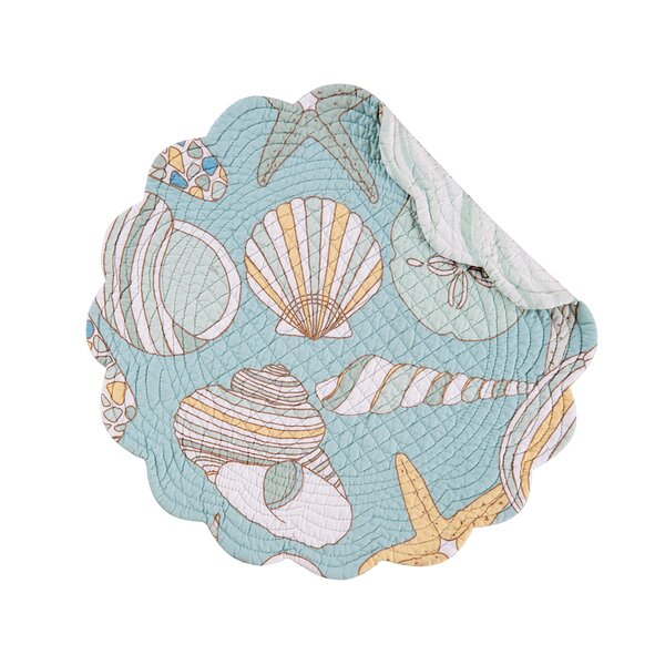 Cabana Bay Round Quilted Placemat (Set of 6) by C&F Home