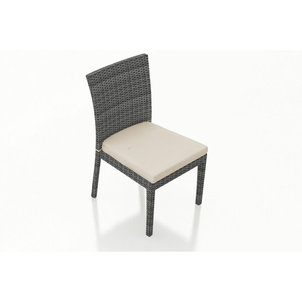Hobbs Patio Dining Chair with Cushion (Set of 2) by Rosecliff Heights