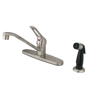 Kingston Brass Yosemite Single Handle Centerset Bathroom Faucet with Sprayer