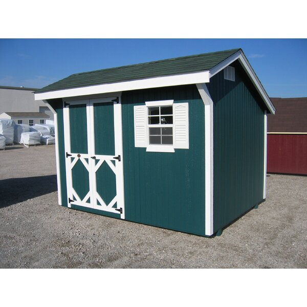 Classic Saltbox Solid + Manufactured Wood Storage Shed by Little Cottage Company