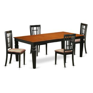 Beesley 5 Piece Rectangular HardWood Dining Set ByDarby Home Co