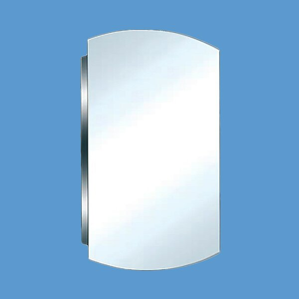 Mcphee Stainless Steel 16 x 24 Surface Mount Frameless Medicine Cabinet