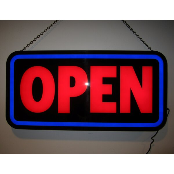 Open Bold Rectangle LED Sign by Neonetics