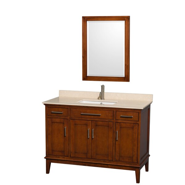 Hatton 48 Single Light Chestnut Bathroom Vanity Set with Mirror by Wyndham Collection
