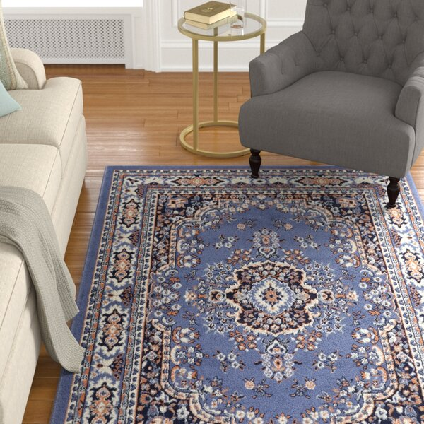 Lilly Country Blue Area Rug by Astoria Grand